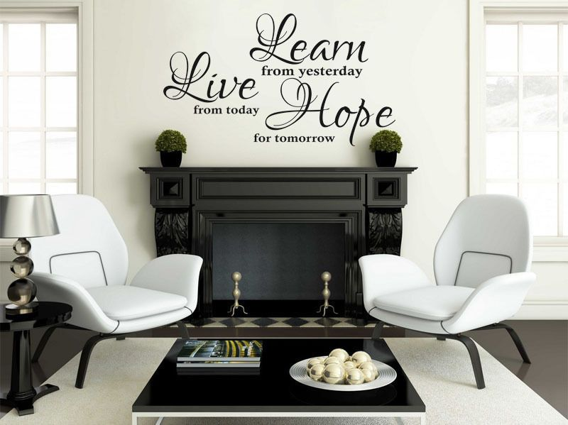 Vinyl Wall Quote Learn Live Hope Wall Art Sticker